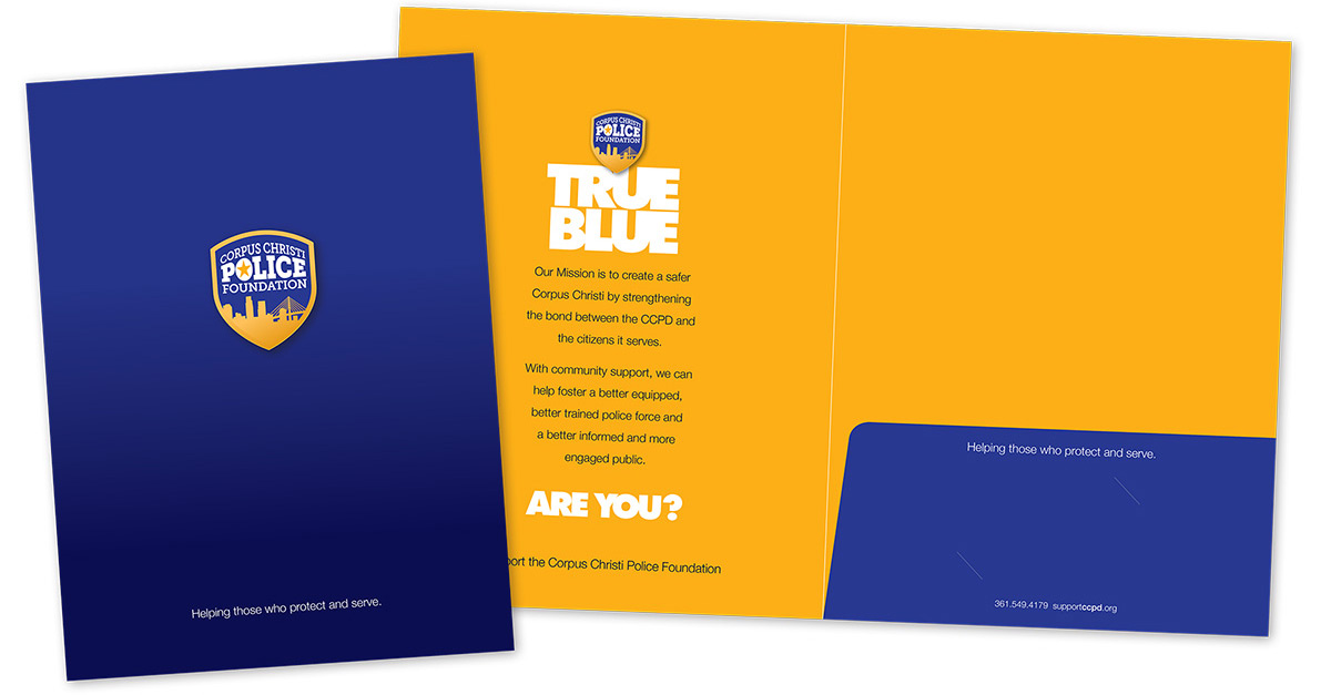 Collateral identity print design materials, branded pocket folder,printed brochure, business card design, branding services